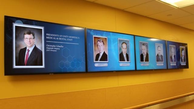 hospital digital display, multi screen digital display, digital screens, hospital digital screens